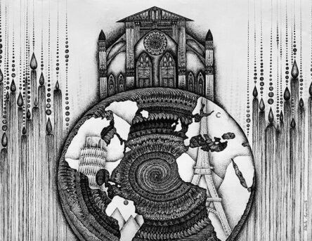 the wealth of soul original artwork planet mandala italy paris egypt temple